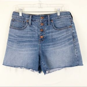 Madewell High Rise Denim Shorts Button Front Sz 29